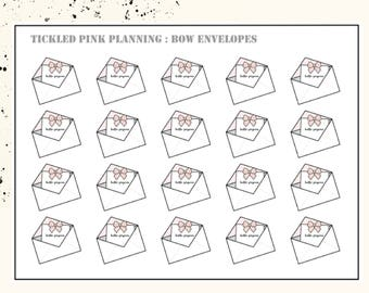 BOW ENVELOPES | Planner Stickers | Premium Matte Paper