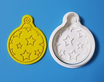 Round Ornament - Star Cookie Cutter and Stamp
