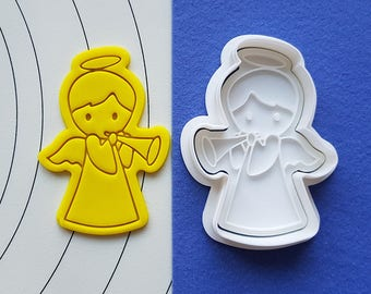 Male Angel Trumpeter  Cookie Cutter and Stamp