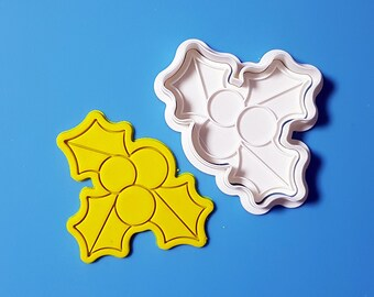 Christmas Holly Cookie Cutter and Stamp
