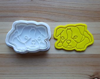 Boston Terrier Cookie Cutter and Stamp