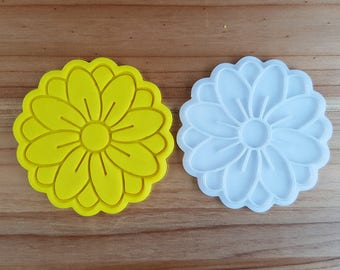 Flower 01  Cookie Cutter and Stamp