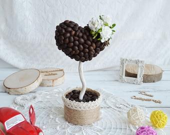Coffee tree Love. topiary. Топиарий