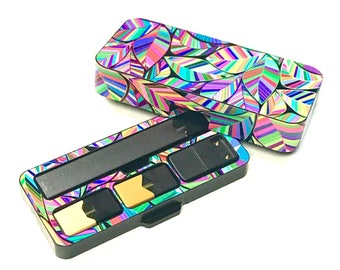 JUUL Vape travel case Floral Leaf design
