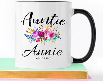 Auntie Mug, Aunt Mug, Aunt Gift, Coffee Mug, Gift-For-Sister, Aunt To Be, New Aunt Gift, Baby Announcement, Personalized Mug, Auntie, Mugs