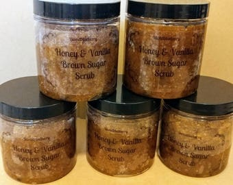 Honey and Vanilla Brown Sugar Scrub