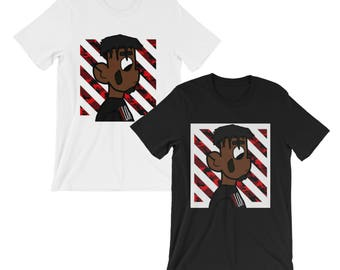 Playboi Carti Cartoon Striped Camo Shirt
