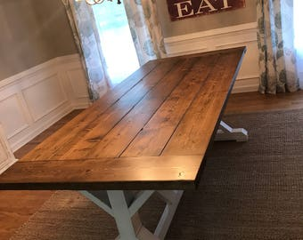 Farmhouse trestle dining table **Local pickup/delivery only**