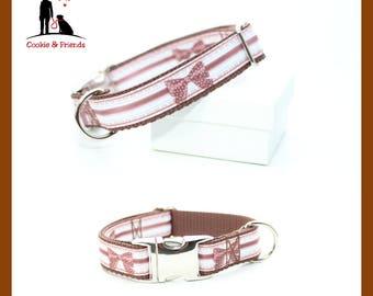 Dog collar 'Loop', metal buckle, plastic buckle, train stop collar