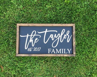 Custom Sign, Family established sign, last name established sign, family established wood signs,  Wood Signs, Rustic Signs