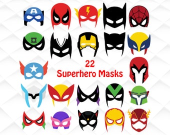 Superhero masks svg,png,dxf|Superhero masks clipart for Print/Silhouette Cameo/Cricut and Many More
