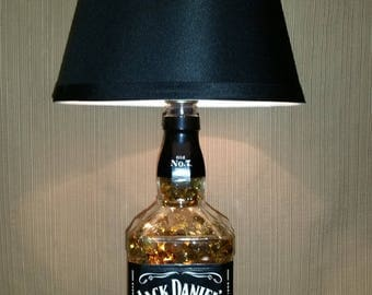 Handcrafted Re-purposed Liquor Bottle Lamp and Accent Light