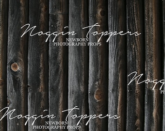 "60""x80"" dark grey barnwood ,Fleece fabric backdrop, wrinkle free professional photography background"