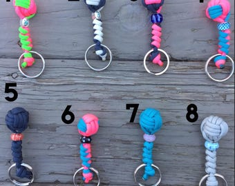 Beaded Knot Keychain