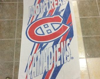 Vtg montreal canadiens nhl bath towel