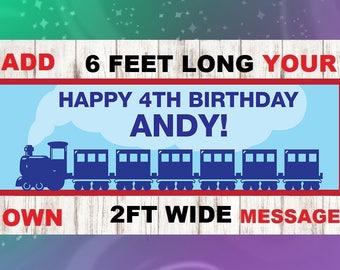 Train Birthday Banner, Train Party Banner, Choo Choo Birthday Banner, Train Party Decorations, Train Birthday Party Decorations