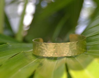 Hammered Brass Cuff