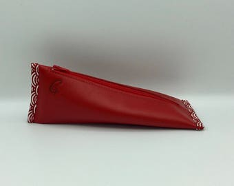 Cherry Red leather case