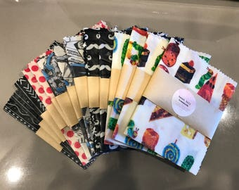 Kids Beeswax Wrap - Environmentally friendly food cover