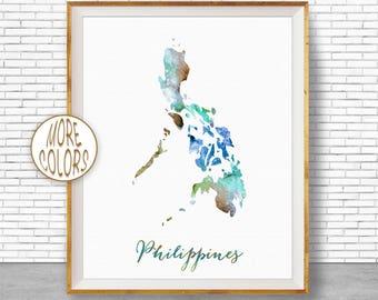 Philippines watercolor map art print 1579 philippines map philippines print philippines art print watercolor print wall art prints artprintzonegift for women publicscrutiny Images