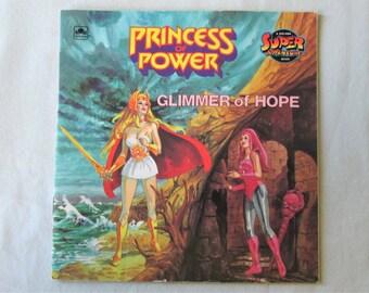 1985 Princess Adora Princess Of Power Glimmer of Hope Mattel Comic Booklet Golden Book Vintage
