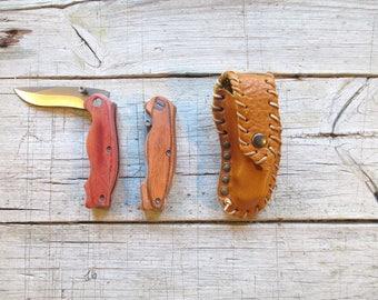 Sheath with knife