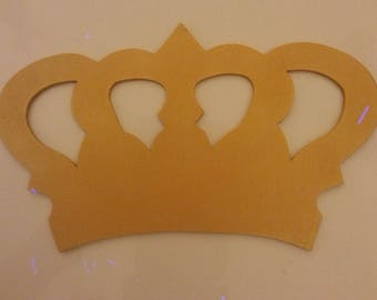 Crown, medium 3 mm, handpainted, large selection of colors. Comes with an adhesive tie