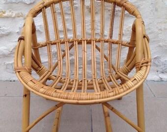 Child Vintage rattan chair