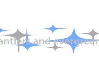 ATOMIC STARS pyrex decal