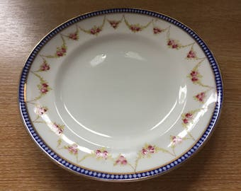 Allertons Old English bone china Belmont pattern 17cm plate