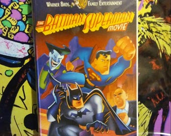 The Batman & Superman Movie VHS