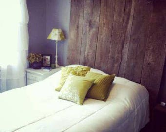 Barnwood Headboard, Unique Rustic, primitive decor, all sizes available, with our without lights Huge holiday sale