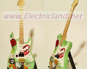 Mini Guitar Billie Joe Armstrong green day stratocaster fender chitarra GITARREN
