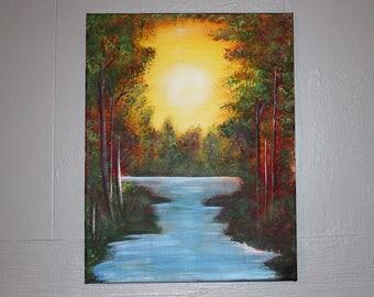 Painting on canvas Autumn original