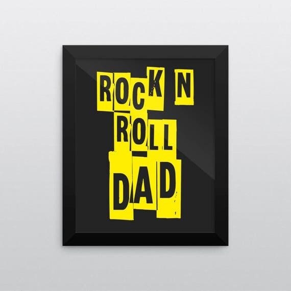ROCK N ROLL DAD | Wall Art | Poster