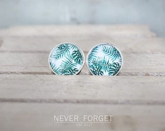 "Earrings ""sheets"" - 16 mm"