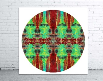 Dreamtime - 20x20cm Moon Circle Print