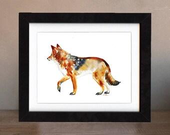 wolf art, wolf artwork, painting, print, nature art, wildlife art, watercolor, art print, gift, saltwatercolors, gray, free shipping