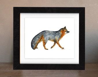 fox artwork, fox wall art, original art, fox art, original paintings, fox gift idea, watercolor, nursery art, totem, spirit, saltwatercolors