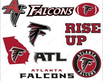 Atlanta Falcons svg bundle football svg logo Dxf Png Ai Falcons svg Atlanta design Print Mug Shirt Decal
