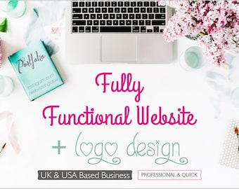 Logo Design with Website, Branding, Website Design, Wordpress Website, Blog Website, Business Website, Custom Logo Design
