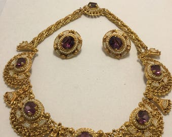 VENDOME EGYPTIAN REVIVAL Necklace and Earrings