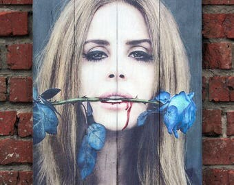 Lana Del Rey Image transfer Print transfer Picture on wood Wood wall hanging Wood wall decor Wood wall art Wood gift