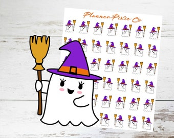 Ghost Planner Stickers // Halloween // Witch // Costume // 007