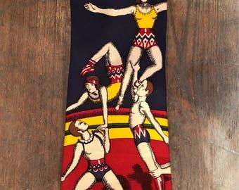 Acrobat Gymnast Circus Vintage Necktie by Perry Ellis