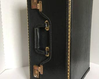 Vintage Catolog faux leather Suitcase