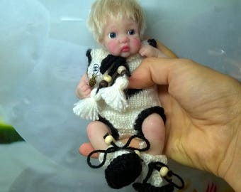 "silicone baby Boy "" Panda"" 6.7 in by Victoria Vihareva-Pechenkina"