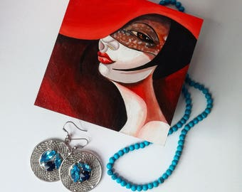 Red Hat Lade Jewerly Box