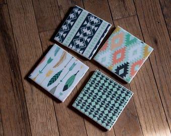 Boho Coasters, Set of 4
