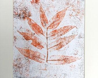 Autumnal Mono Print